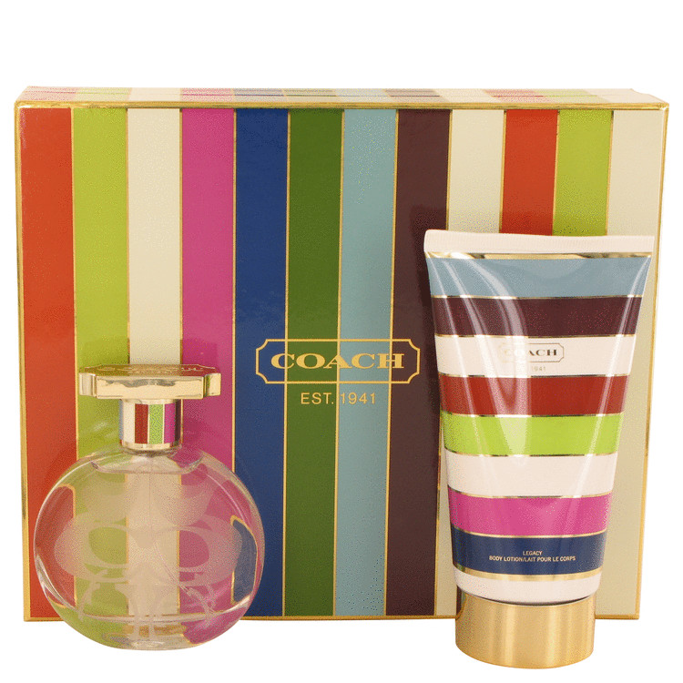 Coach Legacy Gift Set -- Gift Set - 1.7 oz Eau De Parfum Spray + 5 oz Body Lotion for Women