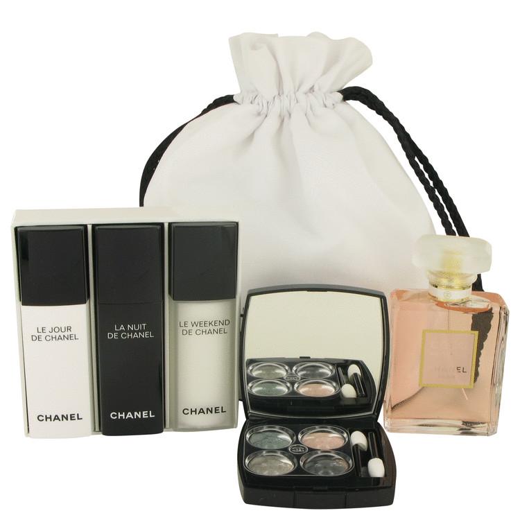Coco Mademoiselle Gift Set -- Gift Set - 1.7 oz Eau De Parfum Spray + Make Up Kit + Three 1/2 oz Recharge ( Le Jour, La Nuit + Le Weekend) in Chanel P