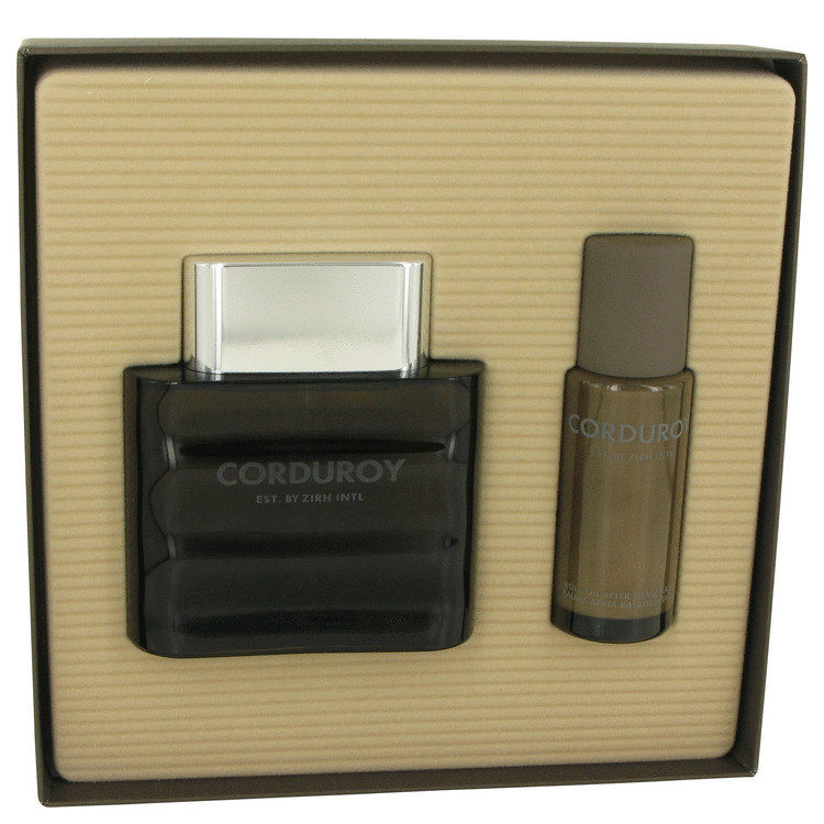 Corduroy for Men, Gift Set (4.2 oz EDT Spray + 1.7 oz Roll On After Shave Balm)