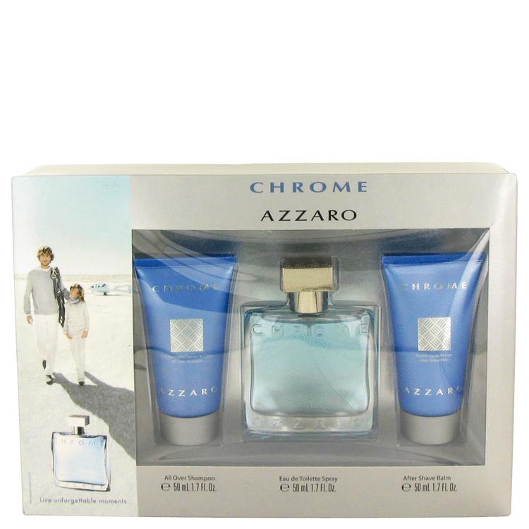 Chrome Gift Set -- Gift Set - 1.7 oz Eau De Toilette Spray + 1.7 oz After Shave Balm + 1.7 oz All Over Shampoo for Men