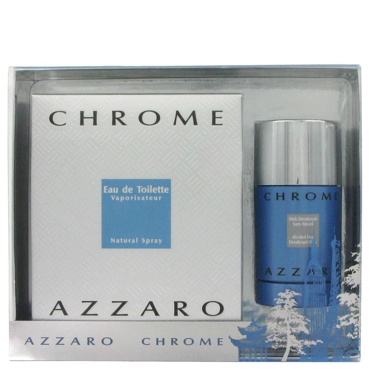 Chrome Gift Set -- Gift Set - 3.4 oz Eau De Toilette Spray + 2.7 oz Deodorant Stick for Men