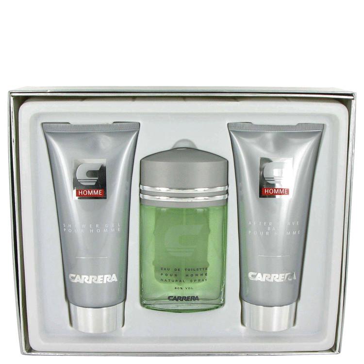 Carrera Gift Set -- Gift Set - 3.4 oz Eau De Toilette Spray + 6.8 oz After Shave Balm + 6.8 oz Shower Gel for Men