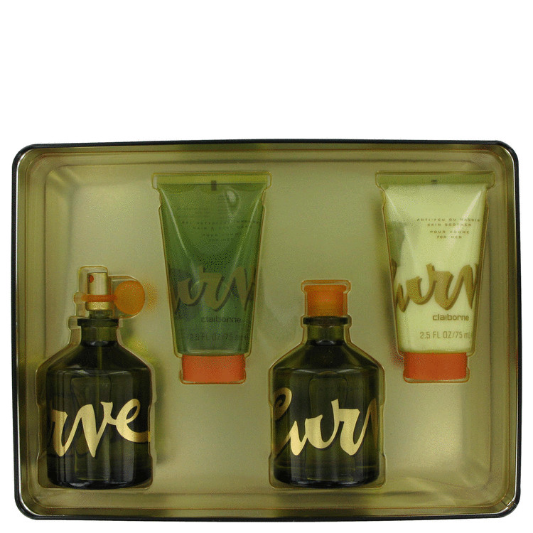 Curve Gift Set -- Gift Set - 4.2 oz Cologne Spray + 4.2 oz After Shave + 2.5 oz Skin Smoother + 2.5 oz Hair & Body Wash Gel for Men