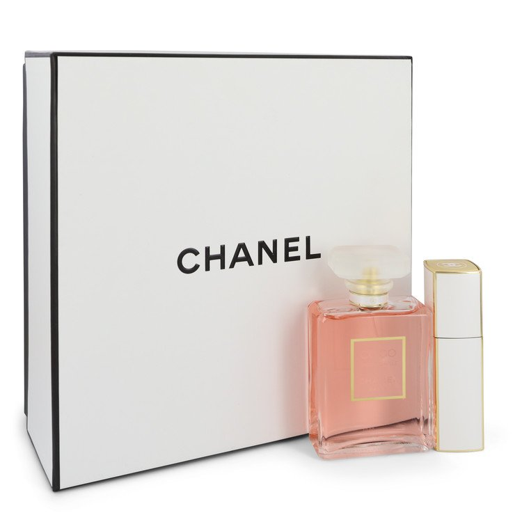 Coco Mademoiselle Gift Set -- Gift Set - 3.4 oz Eau De Parfum Spray + 0.7 oz Mini EDP Spray for Women