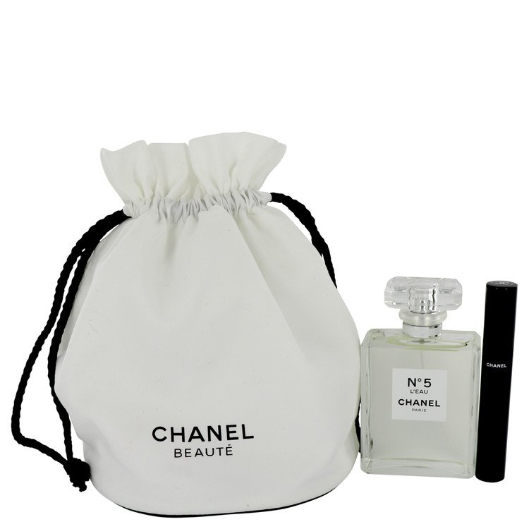 Chanel No. 5 L'eau Gift Set -- Gift Set - 3.4 oz Eau De Toilette Spray + Le Volume 10 Mascara in Gift Pouch for Women