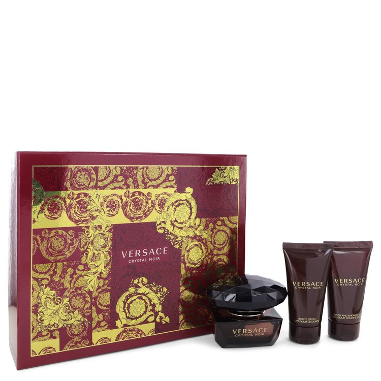 Crystal Noir Gift Set -- Gift Set - 1.7 oz Eau De Toilette Spray + 1.7 oz Body Lotion + 1.7 oz Shower Gel for Women