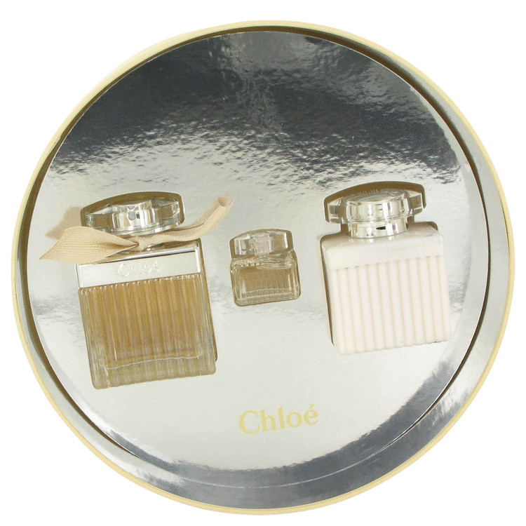 Chloe (new) Gift Set -- Gift Set - 2.5 oz Eau De Parfum Spray + 3.4 oz Body Lotion  + .17 Mini EDP in Gift Box for Women
