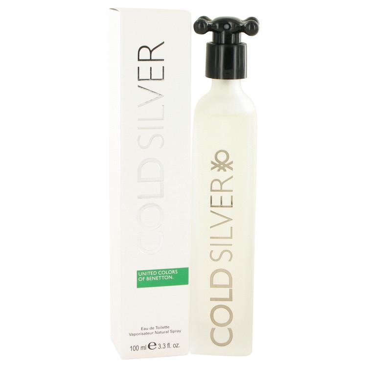 Cold Silver Cologne by Benetton 100 ml Eau De Toilette Spray for Men