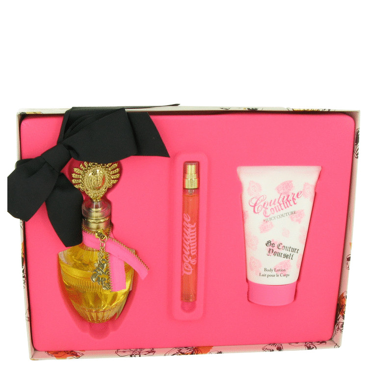 Couture Couture Gift Set -- Gift Set - 3.4 oz Eau De Parfum Spray + 4.2 oz Body Lotion + .33 oz EDP Spray for Women