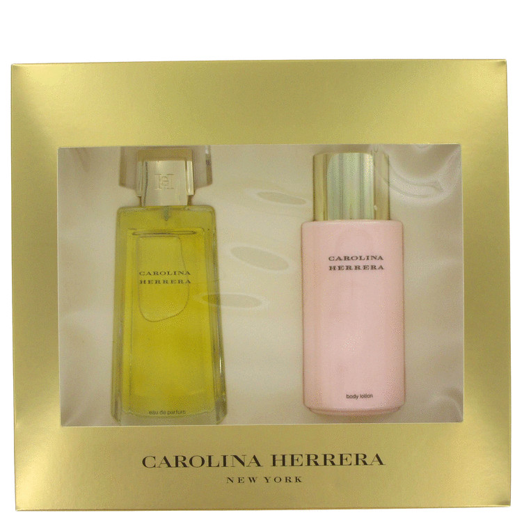 Carolina Gift Set -- Gift Set - 3.4 oz Eau De Toilette Spray + 3.4 oz Body Lotion for Women