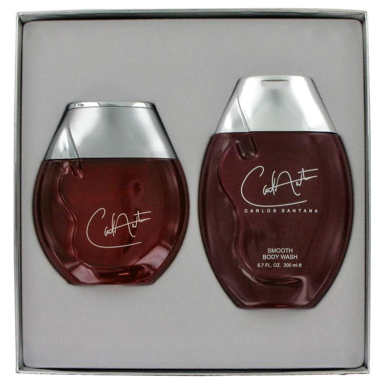 Carlos Santana Gift Set -- Gift Set - 3.4 oz Eau De Toilette Spray + 6.8 oz Body Wash for Men