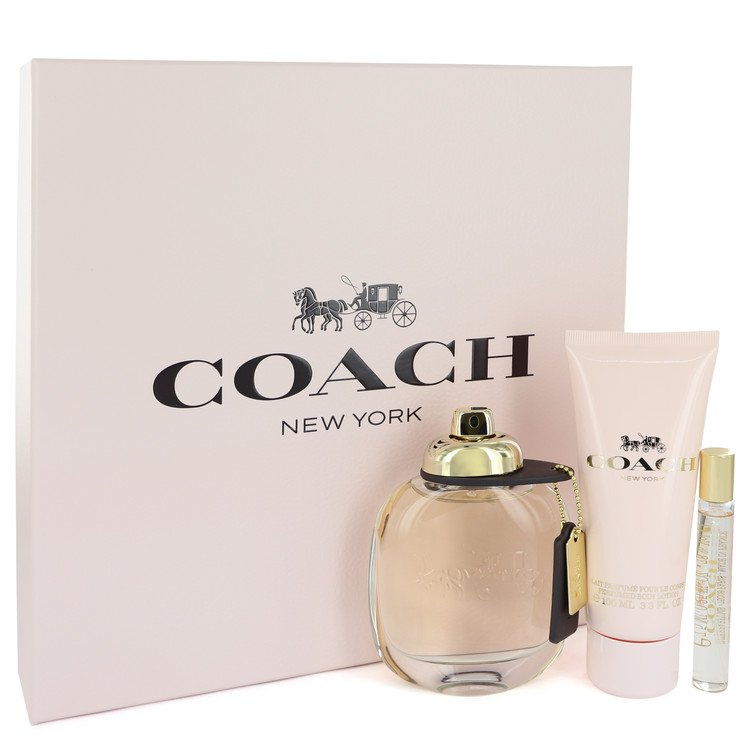 Coach Gift Set -- Gift Set - 3 oz Eau De Parfum Spray + .25 oz Mini EDP Spray + 3.3 oz Body Lotion for Women