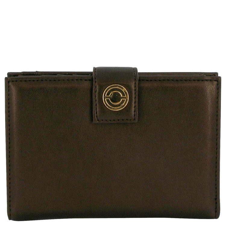 Miss Rocaille Accessories -- Brown Leather Clutch Purse for Women