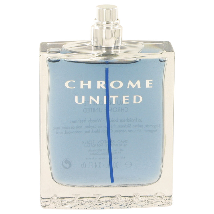 Chrome United Cologne by Azzaro 3.4 oz EDT Spray(Tester) for Men