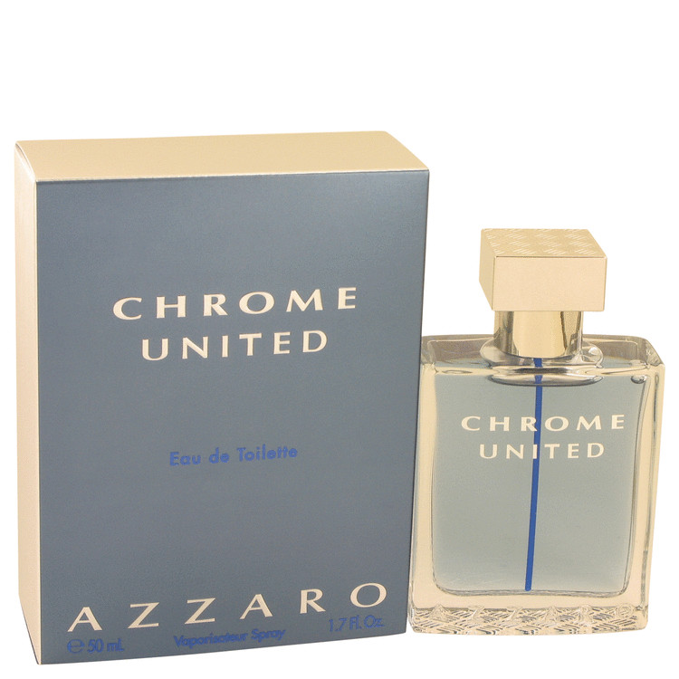 Chrome United by Azzaro for Men Eau De Toilette Spray 1.7 oz