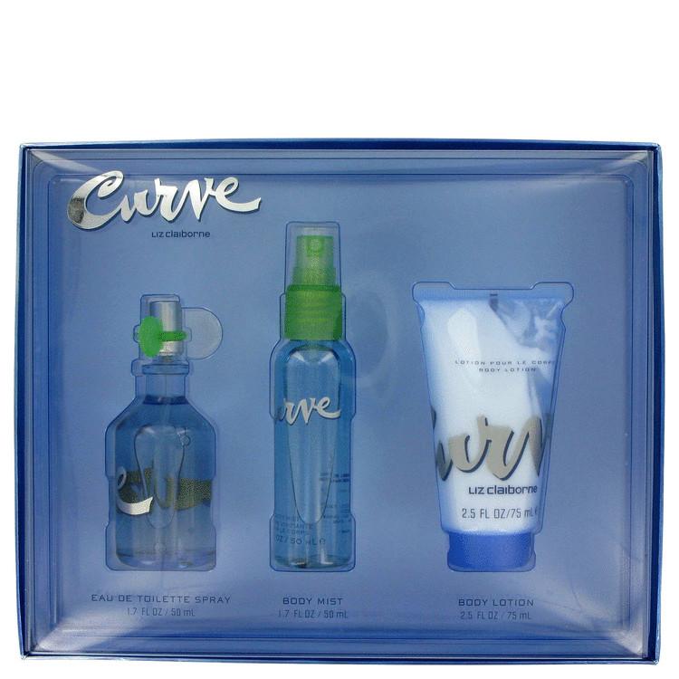 Curve Gift Set -- Gift Set - 1.7 oz Eau De Toilette Spray + 1.7 oz Body Mist + 2.5 oz Body Lotion for Women