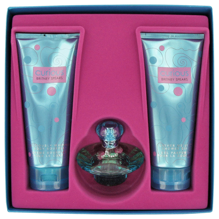 Curious Gift Set -- Gift Set - 1.7 oz Eau De Parfum Spray + 6.7 oz Body Lotion + 6.7 oz Shower Gel for Women