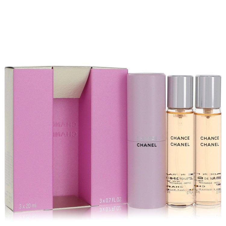 Chance by Chanel for Women Mini EDT Spray + 2 Refills 3 x.7 oz