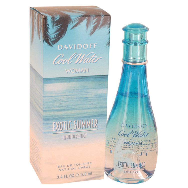 Cool Water Exotic Summer Perfume 100 ml Eau De Toilette Spray (limited edition) for Women