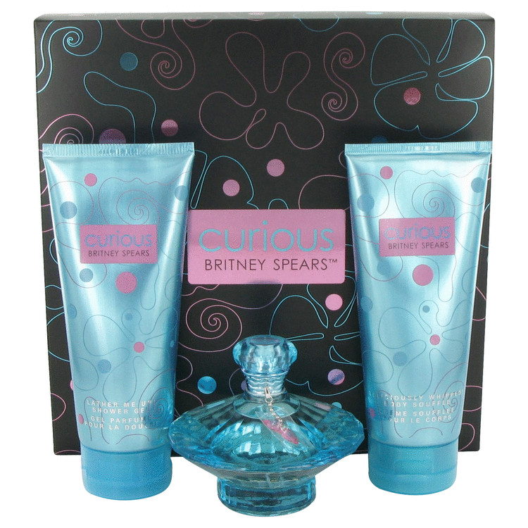 Curious for Women, Gift Set (3.3 oz EDP Spray + 6.7 oz Body Lotion + 6.7 oz Shower Gel)