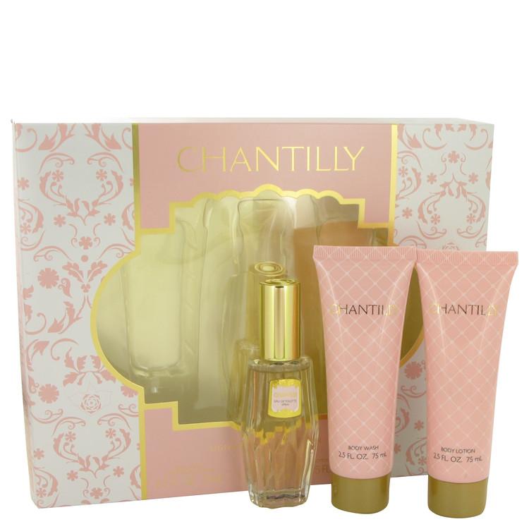 Chantilly Gift Set -- Gift Set - 1 oz Eau De Toilette Spray + 2.5 oz Body Lotion + 2.5 oz  Body Wash for Women