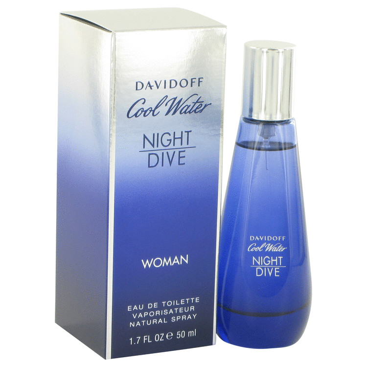 Cool Water Night Dive Perfume by Davidoff 50 ml EDT Spay for Women