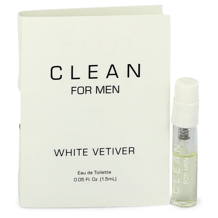 Clean White Vetiver by Clean –  Vial (sample) .05 oz  1 ml for Men