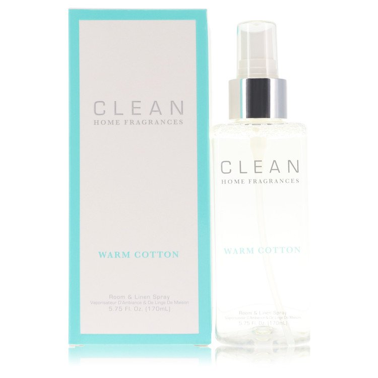 Clean Warm Cotton by Clean –  Room & Linen Spray 5.75 oz 170 ml for Women