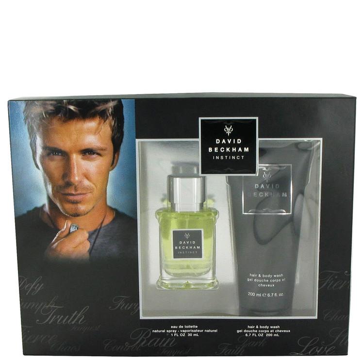 David Beckham Instinct Gift Set -- Gift Set - 1 oz Eau De Toilette Spray + 6.7 oz Hair + Body Wash for Men