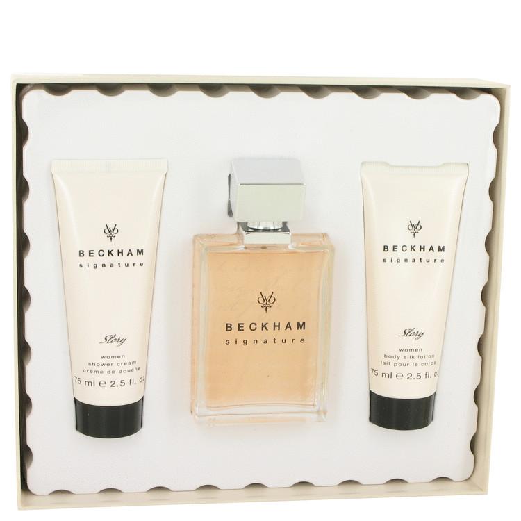David Beckham Signature Story Gift Set -- Gift Set - 2.5 oz Eau De Parfum Spray + 2.5 oz Shower Cream + 2.5 oz Body Lotion for Women