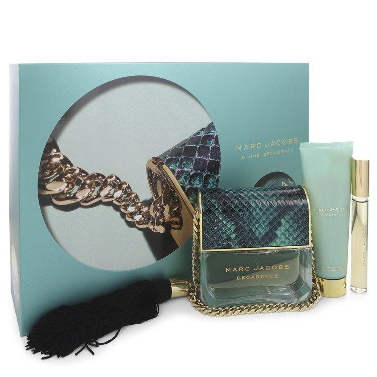 Divine Decadence for Women, Gift Set (3.4 oz EDP Spray + .33 oz Mini EDP Rollerball + 2.5 oz Body Lotion)