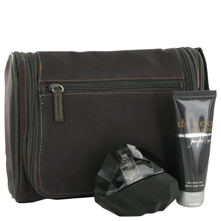 Deseo Gift Set -- Gift Set - 3.4 oz Eau De Toilette Spray + 2.5 oz After Shave Balm + Travel Bag for Men