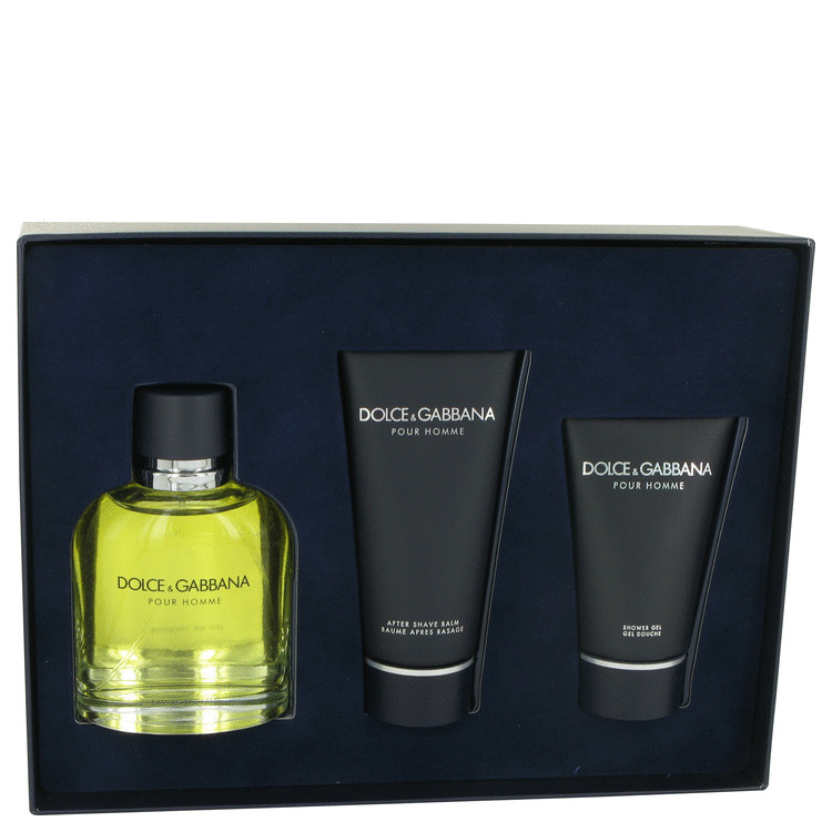 Dolce & Gabbana Gift Set -- Gift Set - 4.2 oz Eau De Toilette Spray  + 3.3 oz After Shave Balm + 1.7 oz Shower Gel for Men