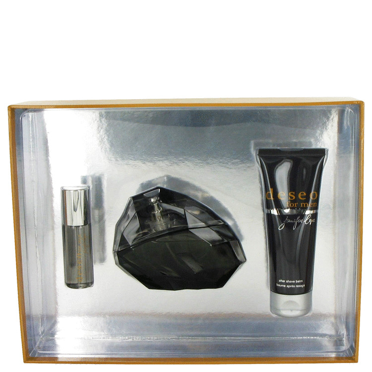 Deseo for Men, Gift Set (3.4 oz EDT Spray + 2.5 oz After Shave Balm + .5 oz Mini EDT Spray)
