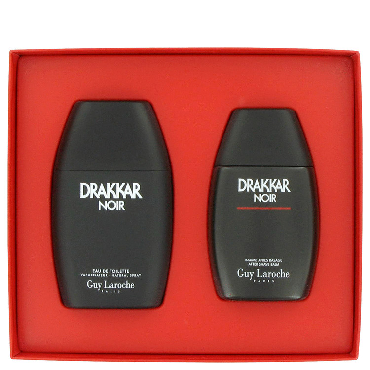 Drakkar Noir Gift Set -- Gift Set - 3.4 oz Eau De Toilette Spray + 3.4 oz After Shave Balm for Men
