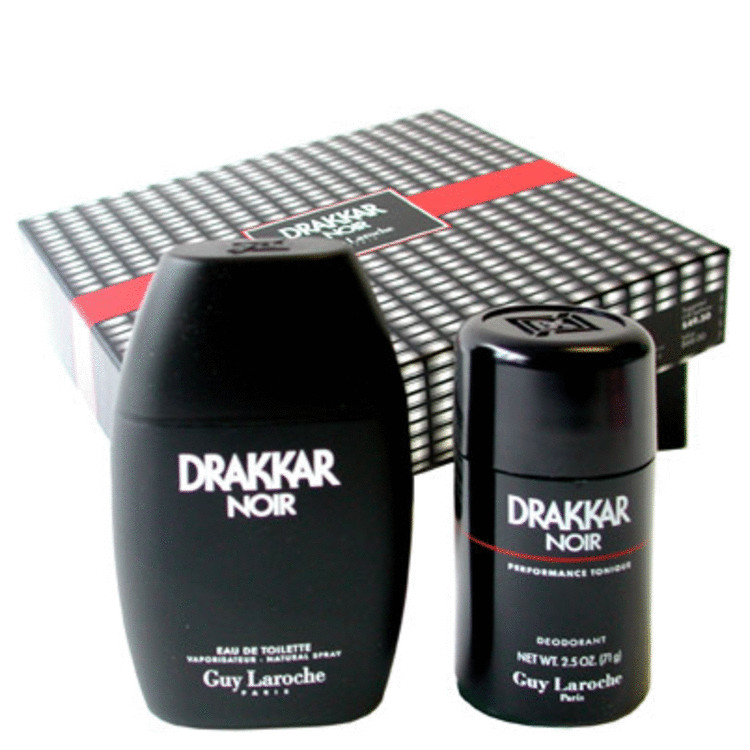 Drakkar Noir Gift Set -- Gift Set - 3.4 oz Eau De Toilette Spray + 2.5 oz Deodorant Stick for Men