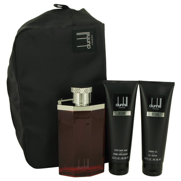 Desire Gift Set -- Gift Set - 3.4 oz Eau De Toilette Spray + 3 oz Shower Gel + 3 oz After Shave Balm + Bag for Men