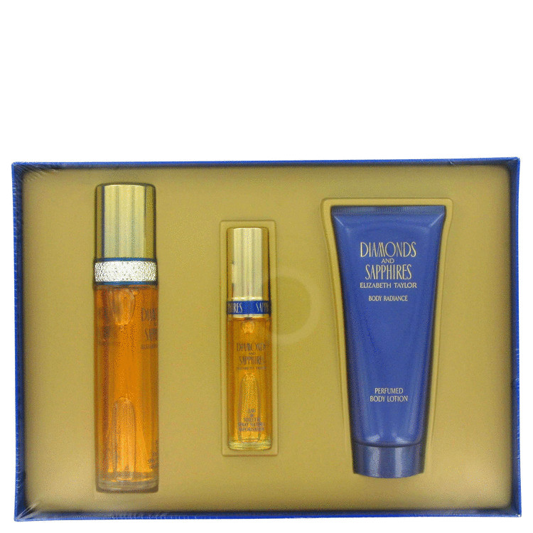 Diamonds & Saphires Gift Set -- Gift Set - 1.7 oz Eau De Toilette Spray + .5 oz Mini Eau De Toilette Spray + 3.3 oz Body Lotion for Women