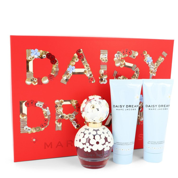 Daisy Dream by Marc Jacobs Women's Gift Set -- 1.7 oz Eau De Toilette Spray + 2.5 oz Body Lotion +2.5 oz Shower Gel