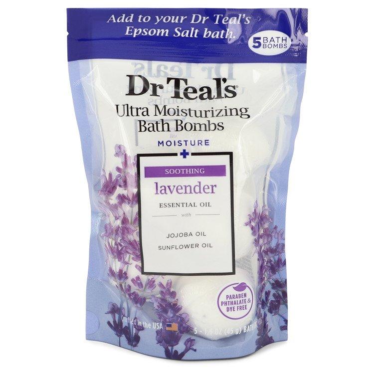 Dr Teal's Ultra Moisturizing Bath Bombs by Dr Teal's –  Five (5) 1.6 oz Moisture Soothing Bath Bombs with Lavender, Essential Oils, Jojoba Oil, Sunflower Oil (Unisex) 1.6 oz 50 ml