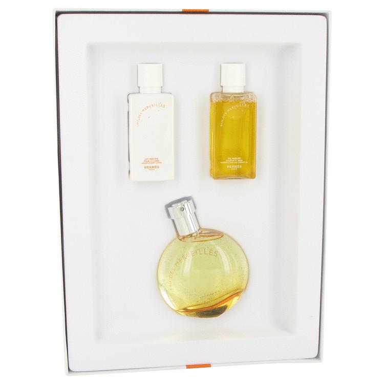 Eau Des Merveilles Gift Set -- Gift Set - 1.7 oz Eau De Toilette Spray + 1.35 oz Body Lotion + 1.35 oz Shower Gel for Women