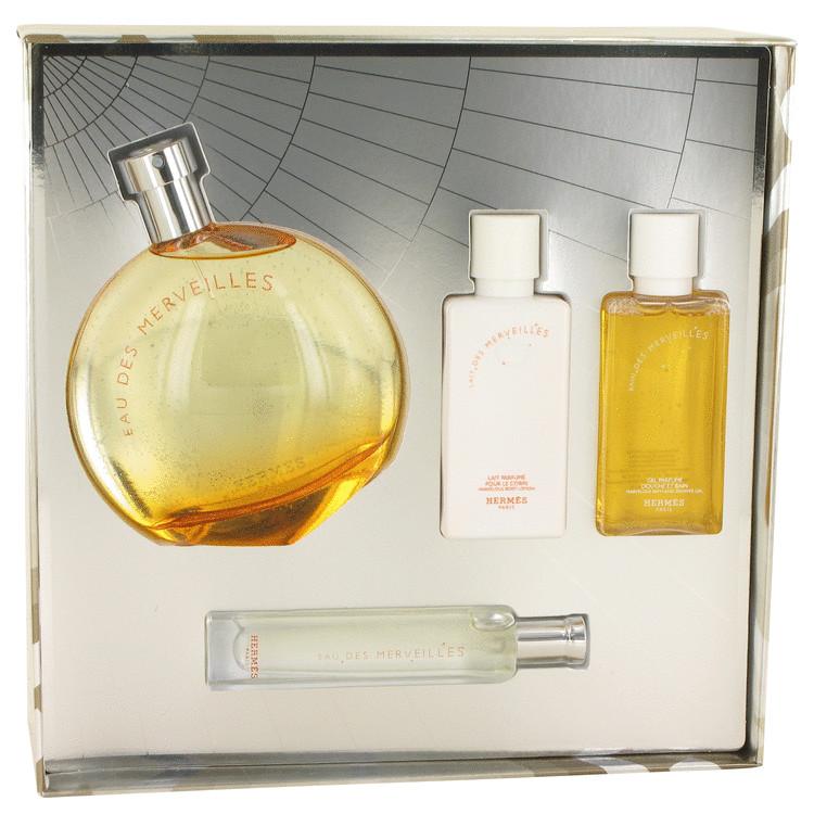 Eau Des Merveilles Gift Set -- Gift Set - 3.3 oz Eau De Toilette Spray + 1/2 oz EDT Spray + 1.35 oz Body Lotion  + 1.35 oz Shower Gel for Women