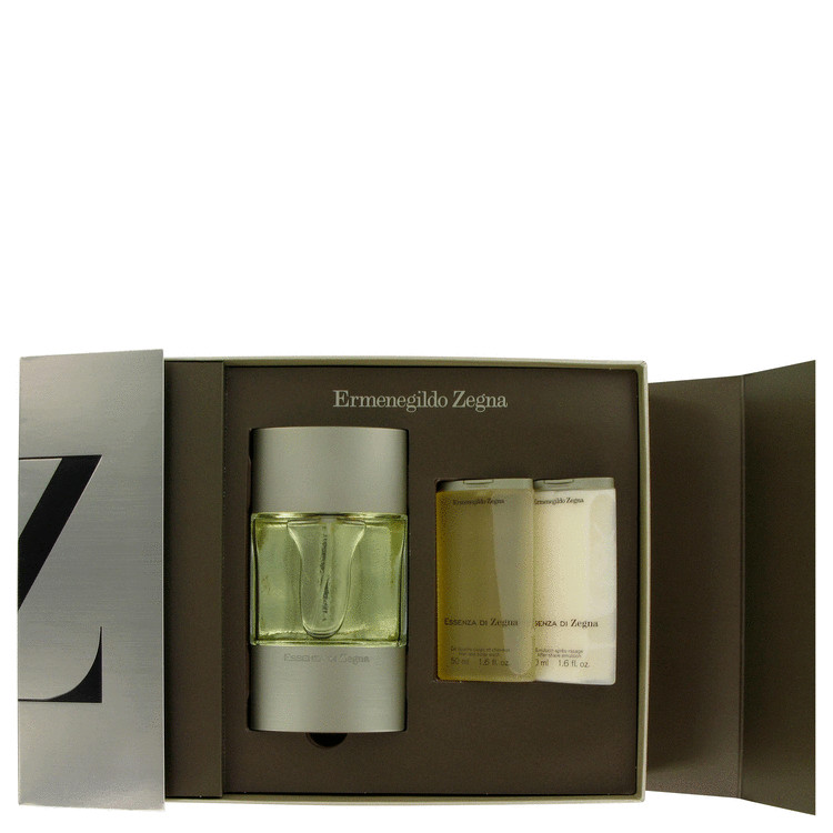 Essenza Di Zegna Gift Set -- Gift Set - 3.4 oz Eau De Toilette Spray + 1.6 oz Shower Gel + 1.6 oz After Shave Balm for Men