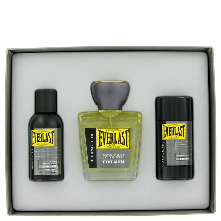 Everlast Gift Set -- Gift Set - 3.4 oz Eau De Toilette Spray + 3.4 oz After Shave Balm + 2.5 oz Deodorant Stick for Men