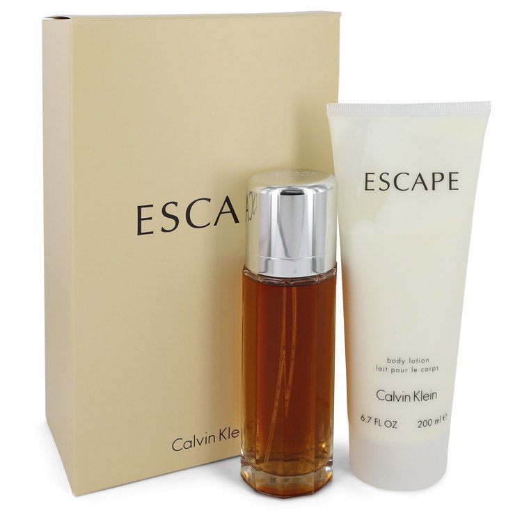 Escape Gift Set -- Gift Set - 3.4 oz Eau De Parfum Spray + 6.7 oz Body Lotion for Women
