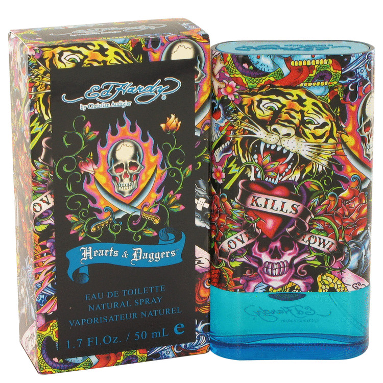 Ed Hardy Hearts & Daggers Cologne 50 ml EDT Spay for Men