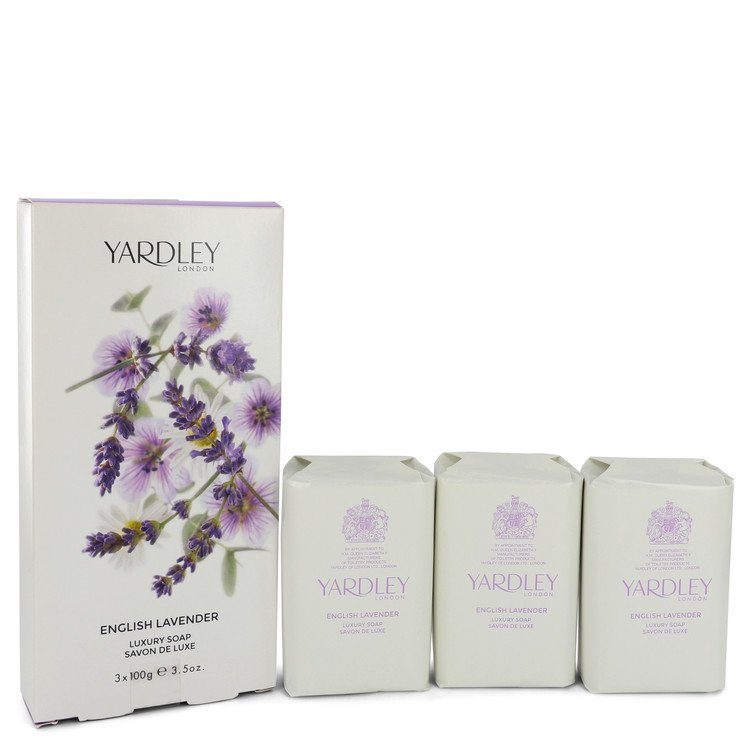 English Lavender by Yardley London for Women 3 x 3.5 oz Soap 3.5 oz