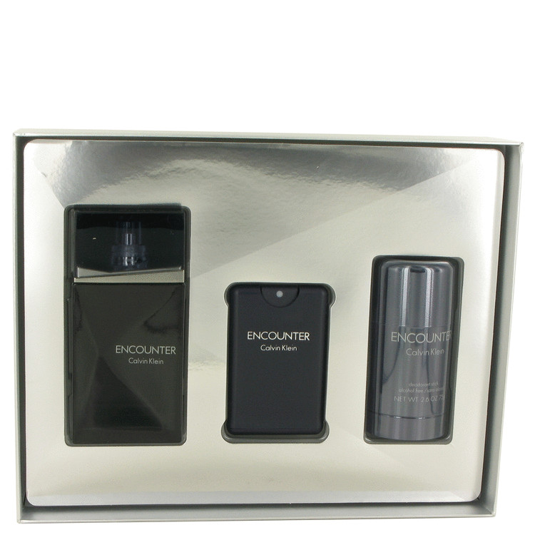 Encounter for Men, Gift Set (3.4 oz EDT Spray + .67 oz Mini EDT Spray + 2.6 oz Deodorant Stick)