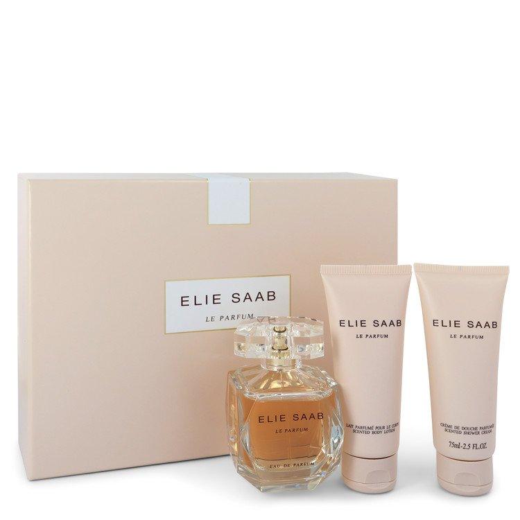 Le Parfum Elie Saab by Elie Saab for Women Gift Set -- 3 oz Eau De Parfum Spray + 2.5 oz Shower Cream + 2.5 Body Lotion