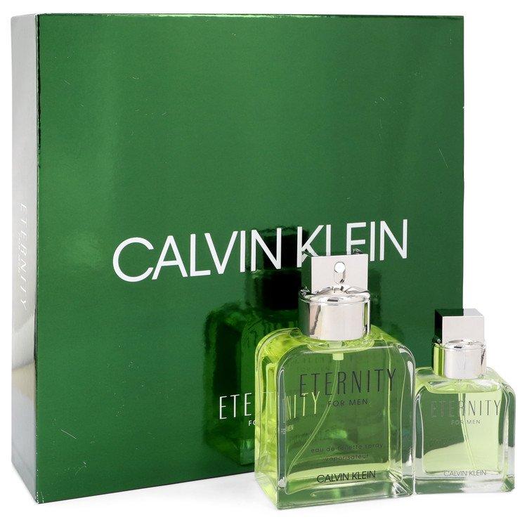 Calvin Klein Eternity for Men, Gift Set (3.4 oz EDT Spray + 1 oz EDT Spray )